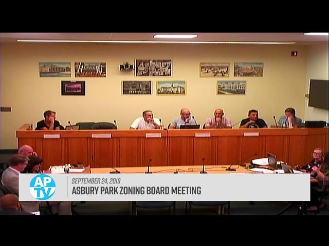 Asbury Park Zoning Board Meeting - September 24, 2019