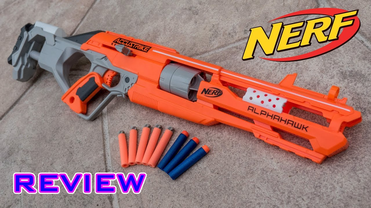 REVIEW] Nerf Elite Accustrike Alphahawk Unboxing, Review, & Firing ...