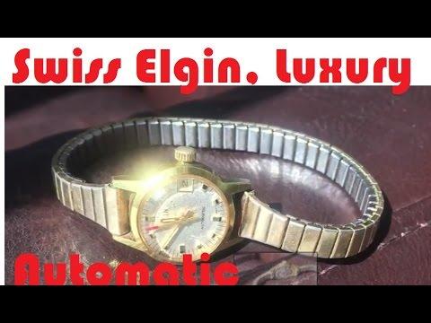 Luxury Swiss Watch Uncasing: Ladies Elgin 17 jewels automatic