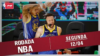 RODADA NBA 12/04 - CURRY HISTÓRICO, DONCIC X EMBIID, TOP 10 E MAIS!