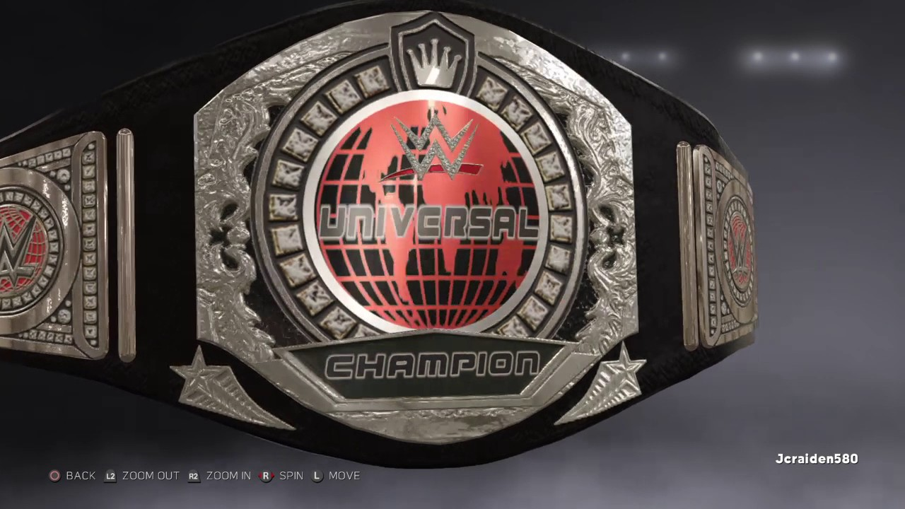 wwe 2k17 custom universal championship using my custom wwe world championship template