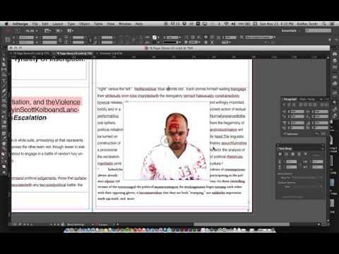 InDesign 04 text wrap drop cap