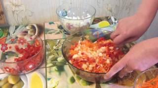 Заморозка овощей для супов