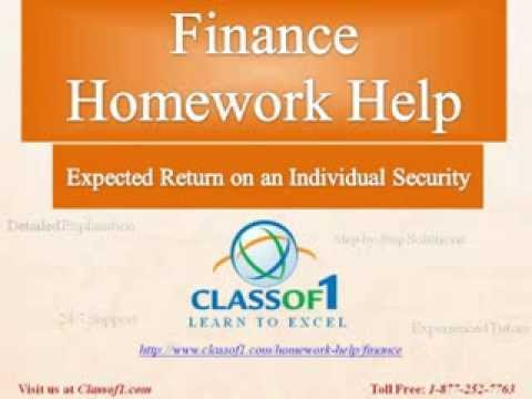 expected return on an individual security finance homework help  expected return on an individual security finance homework help by classof1 com