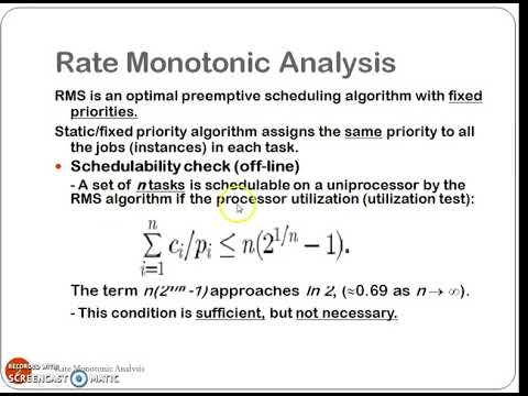 Rate Monotonic Analysis