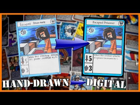 How to Transform Hand-Drawn Cards into Digital Trading Cards