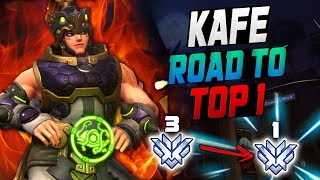 KAFEEE BEST ZARYA! ROAD TO TOP 1! [ OVERWATCH SEASON 10 TOP 500 ]