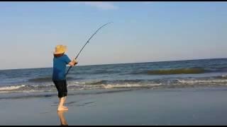 Hilton head surf fishing. Big stingray caught at hilton head.