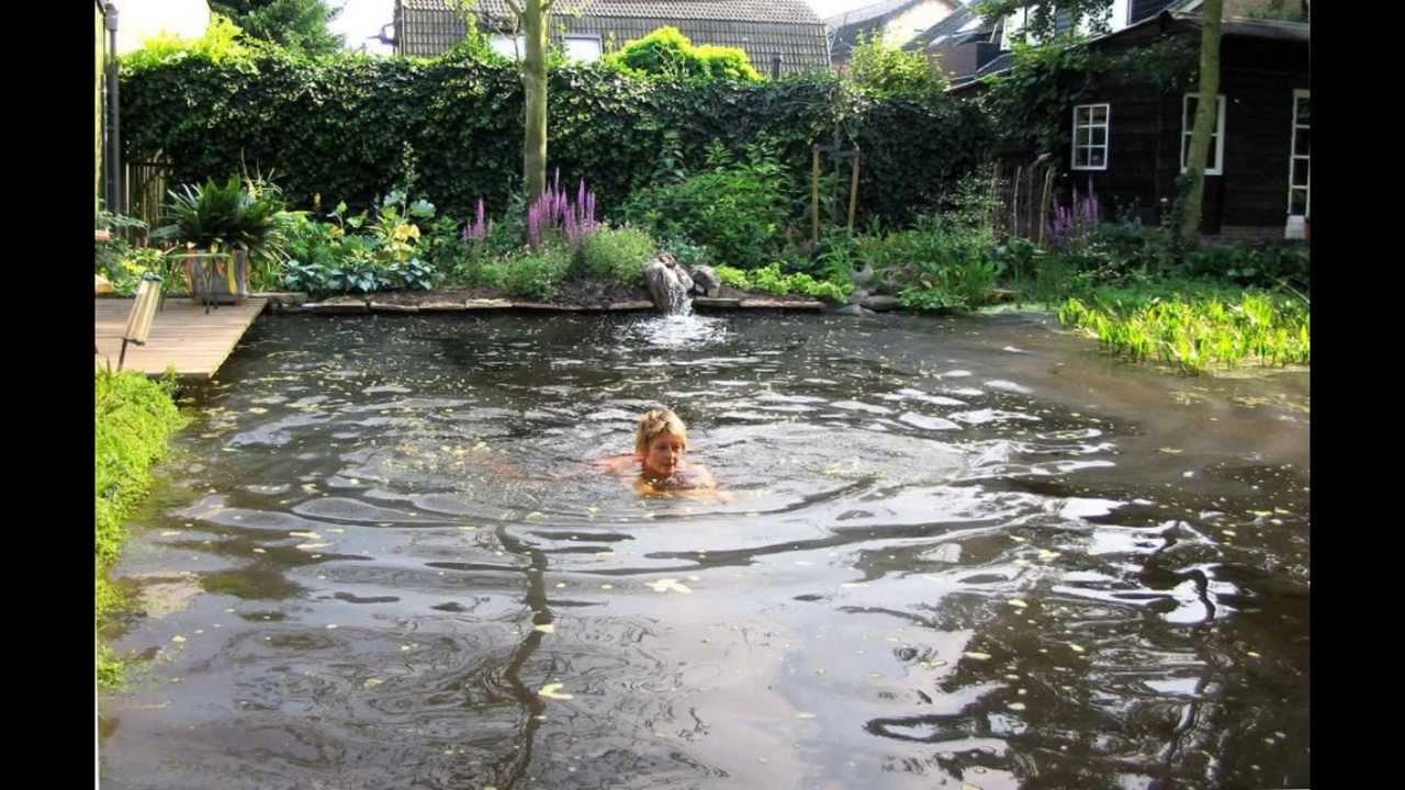 Instructie zelf een vijver aanleggen youtube for Zelf zwembad bouwen betonblokken