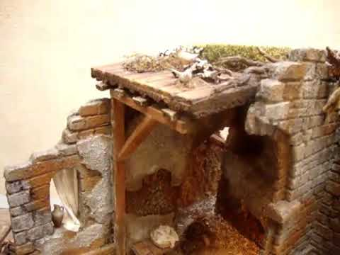 1105 - Pesebre con semiarcos en ruinas para figuras de 15 a 21 cm ...