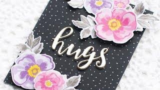 Handmade Card w/ Altenew's Flower Arrangement Stamp & Die Bundle