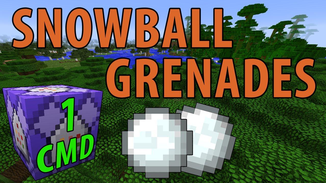 Minecraft Snowball Grenades (1 Command) - YouTube