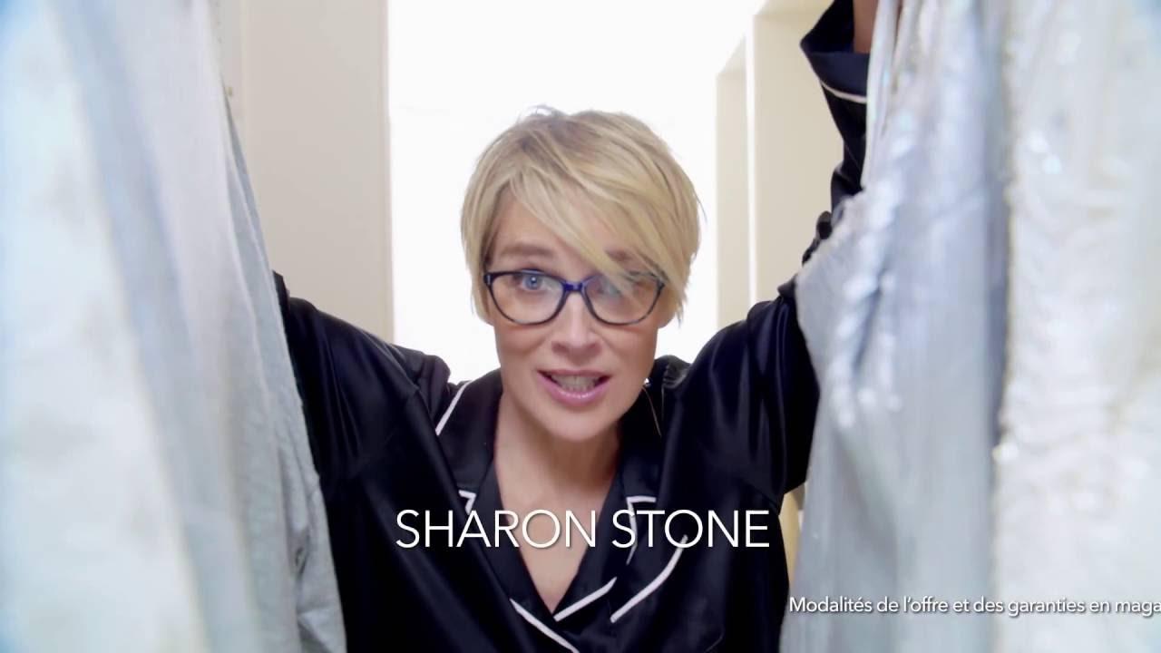 campagne sharon stone alain afflelou youtube. Black Bedroom Furniture Sets. Home Design Ideas