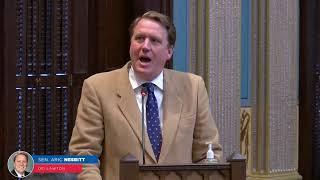 Sen. Nesbitt addresses the Senate on the balance of power