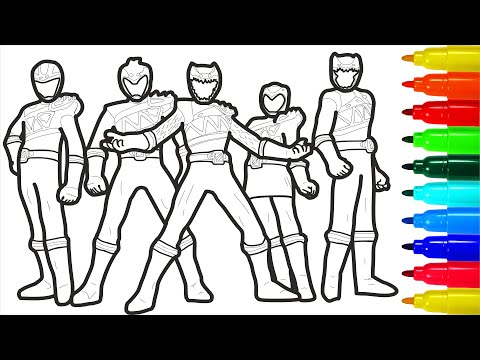 Zyuden Sentai Kyoryuger Coloring Pages | Power Rangers Coloring Pages