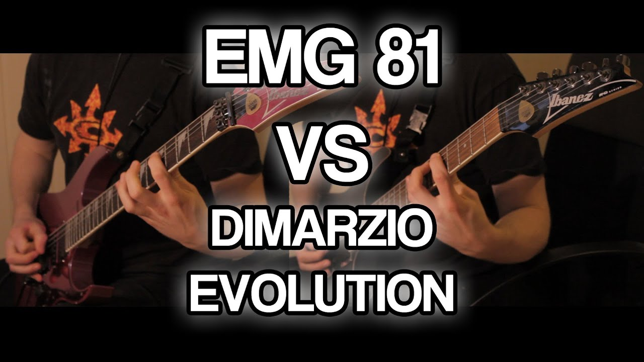 EMG 81 vs DiMarzio EVOLUTION //// Active vs Passive Pickups