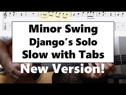 Minor Swing guitar lesson slow