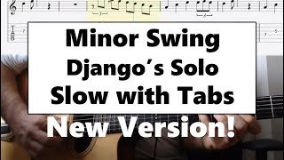 Minor Swing guitar tab lesson slow