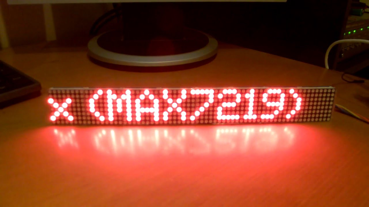 64x8 dot matrix display max 7219 arduino nano DeBoj