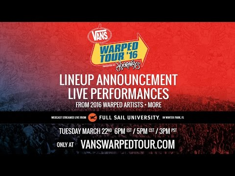 2016 Vans Warped Tour - Live Artist Announce Webcast