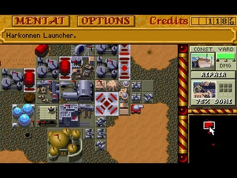 Dune 2 - Harkonnen mission 8 speedrun 31:09 (PC DOS)