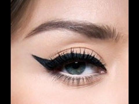 أنا شيك - How To Apply Cat Eyeliner ♥ كيف ترسمين كحل القطة