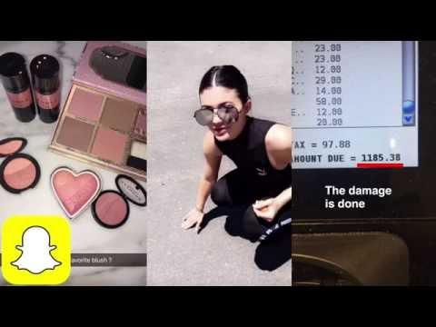 Kylie Jenner's $1.2K SEPHORA HAUL on Snapchat | Kylie Snaps