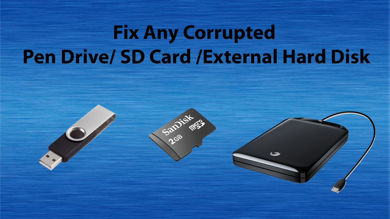 Image result for Repair Corrupted Memory Card/USB Hard Drive
