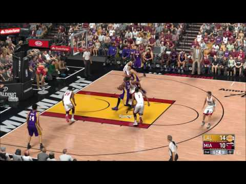 NBA 2K17 - Los Angeles Lakers vs Miami Heat | Gameplay (PC HD) [1080p60FPS]