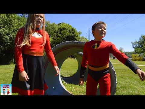 Incredibles 2 Jack Jack Hide n Seek with Violet and Dash pretend play funny kids skit video