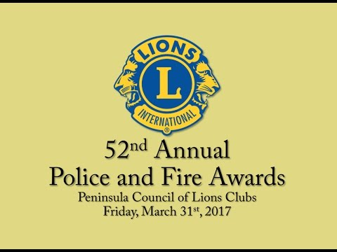 Peninsula Council of Lions - Police and Fire Awards 2017