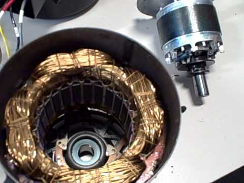 3 Phase Generator >> Single-phase induction motor disassembled - YouTube