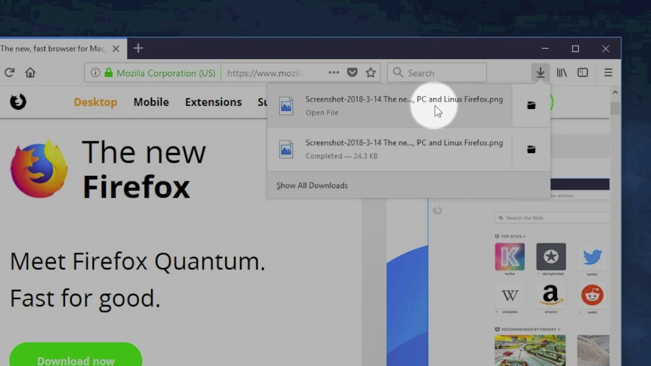 Firefox Screenshot: Save a full page as one image!