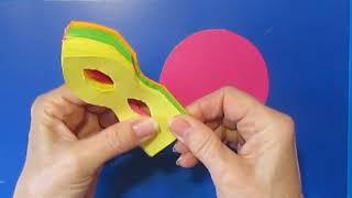 Волшебный Подарок маме на День Матери своими руками из цветной бумаги поделки с детьми мастер класс