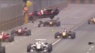 FIA Formula 3 World Cup 2016. Qualification Race Macau Grand Prix. Ye Hong Li Huge Crash