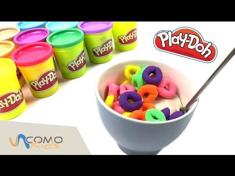 Play Doh cocina - desayuno de plastilina