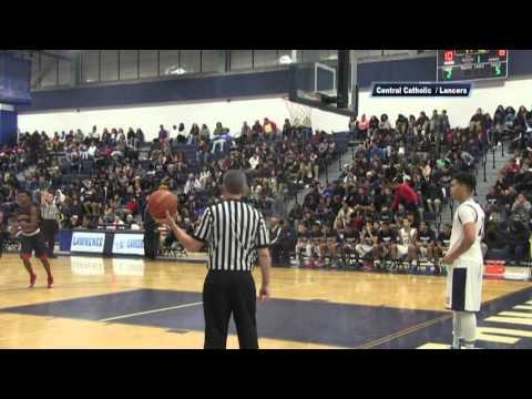 LHS Boys Basketball vs Central Catholic - Jan 2016