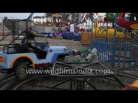Fun rides for children in Surajkund craft mela