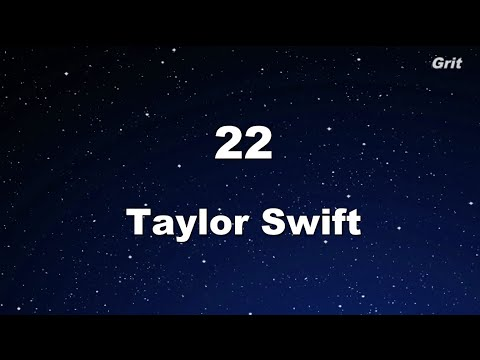 22 - Taylor Swift Karaoke【WithGuide Melody】
