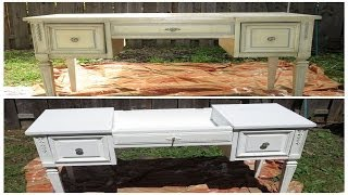 How I Repainted An Old Vanity Without Sanding (diy)