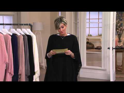 Layers by Lizden Marvelush Cable Knit Fringed Poncho with Shawn Killinger