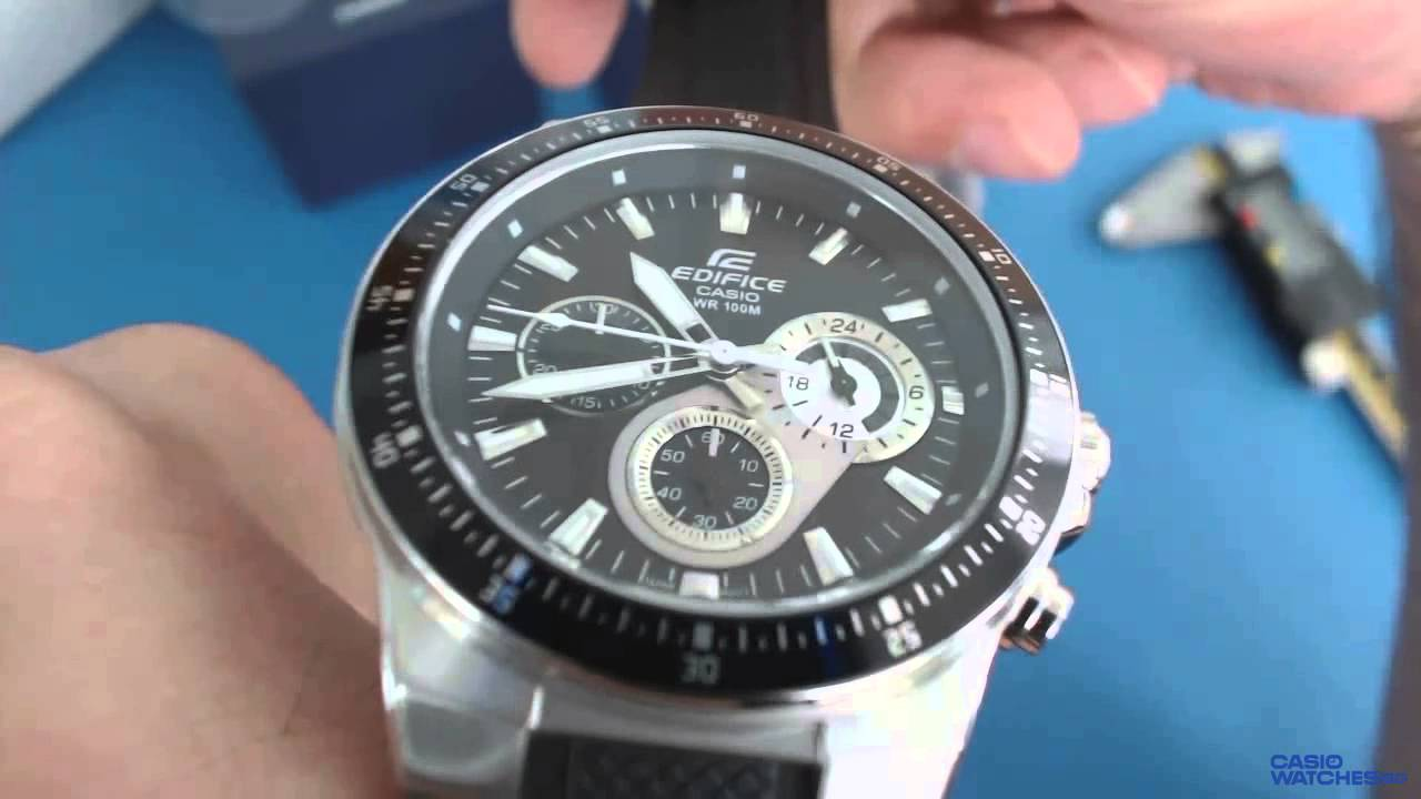 dd488acc1 Casio Edifice Chronograph EF-552-1AV - YouTube