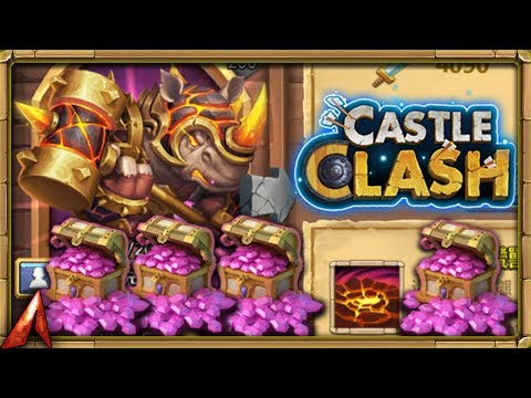 Rolling For New Hero Rhino! New Account Becomes BEAST! Castle Clash