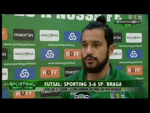Futsal :: 25J :: Sporting - 3 x Braga - 6 de 2014/2015