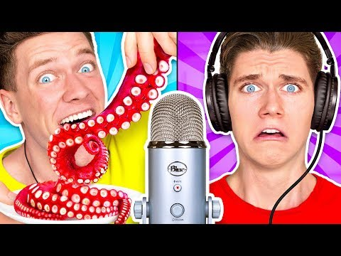 Guess That ASMR Sound w/ Octopus, Raw Honeycomb, DIY Slime & Aloe Vera Challenge