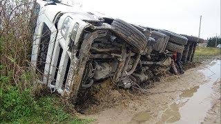 Wypadek tira - stawianie i wyciąganie - Zetor 16245 , Ursus c385 , Ural - Engine Sound