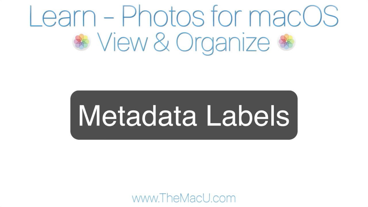 Photos for Mac Tutorial: Metadata Labels