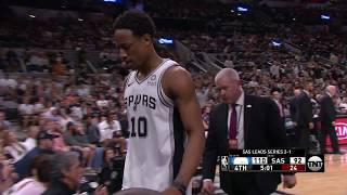 DeMar DeRozan Chucks The Ball At Ref And Gets Ejected From Game 4 After Charge Call