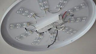 일반 형광등 LED등으로 방등 교체하기 - 기존등 떼어…