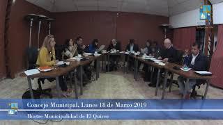 Concejo Municipal Lunes 18 de Marzo 2019 - El Quisco